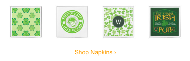 St Paticks Day Napkins, St Patrick's Day Party Supplies Sale