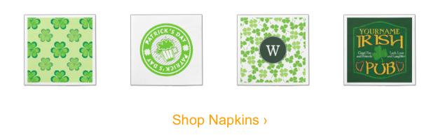 St Paticks Day Napkins, St Patrick's Day Party Supplies Sale
