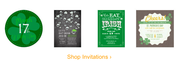 St Patricks Day Invitations, St Patrick's Day Party Supplies Sale