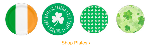 St Patricks Day Plates, St Patrick's Day Party Supplies Sale