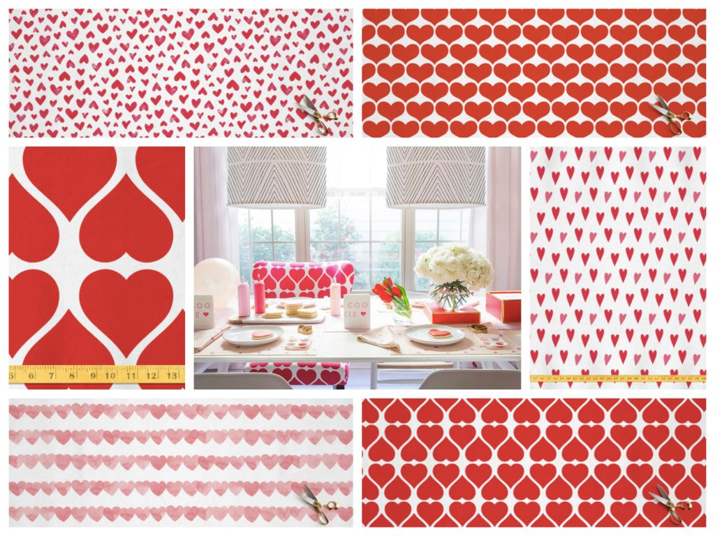 Valentines Day Fabrics for DIY Projects