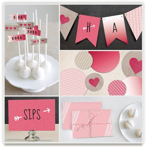 Valentines Ombre Love Dream Party Kit