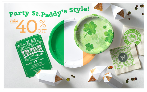 Zazzle STPADDYPARTY Sale, St Patricks Day Party Supplies Sale