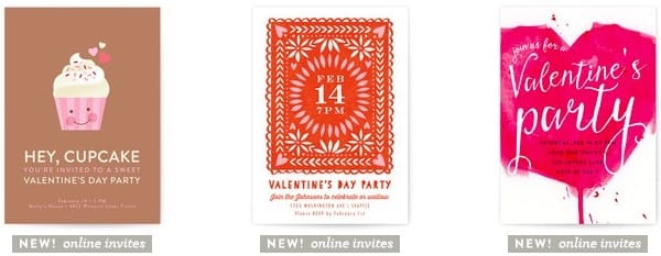 Dessert valentines day online party invitations