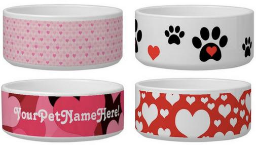 Love valentines day dog bowls