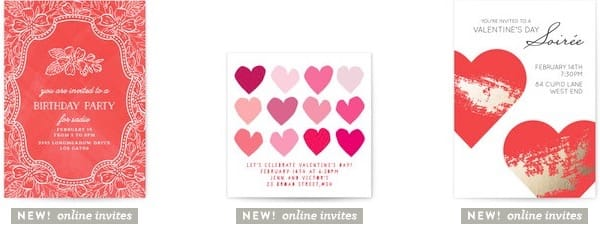 Online valentines day party invitations