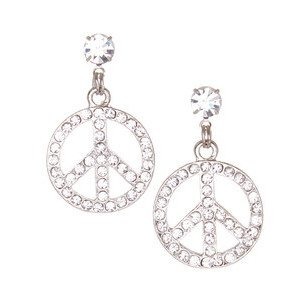Crystal Peace Drop Earrings