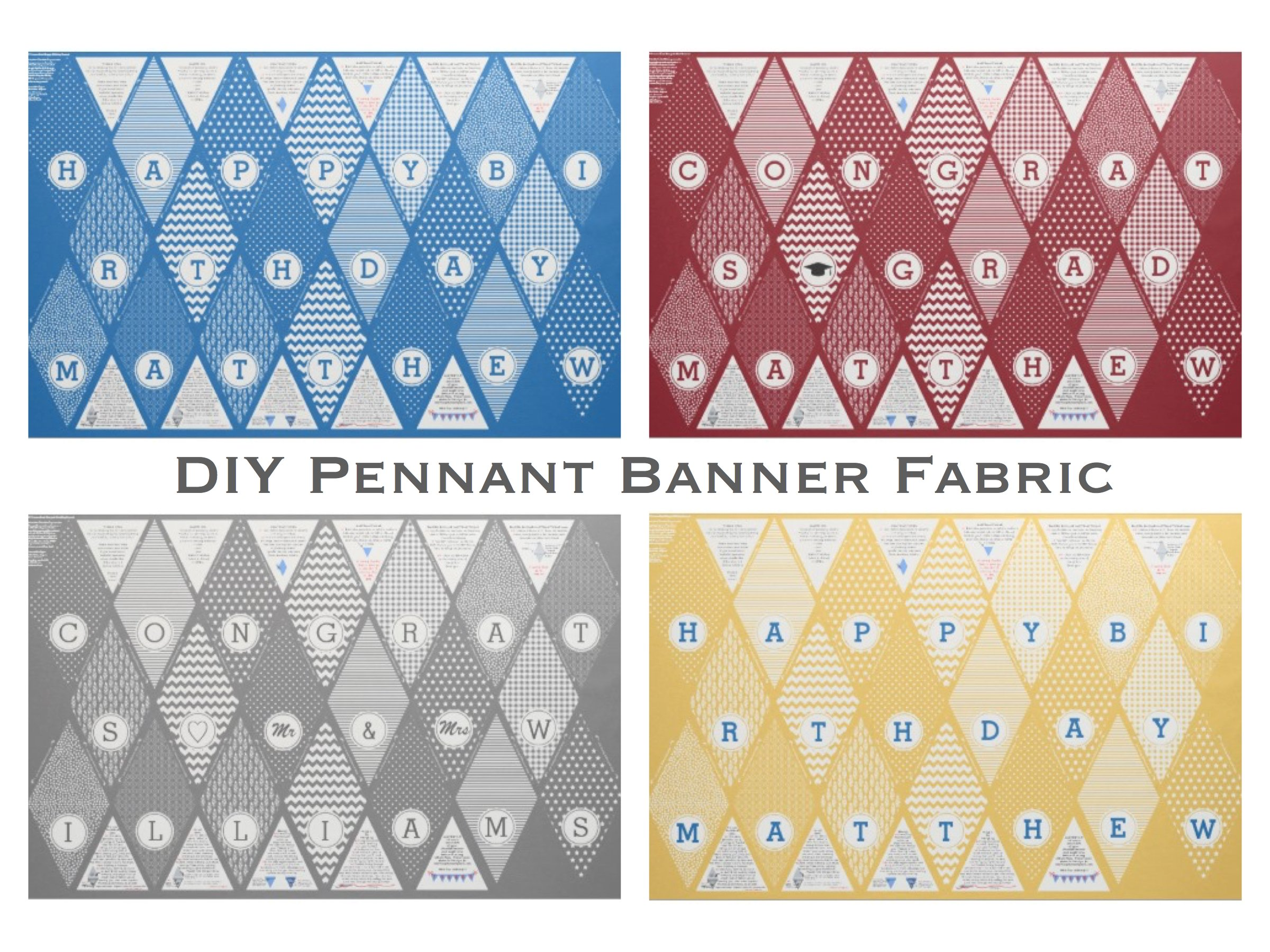 Custom DIY Pennant Banner Fabric