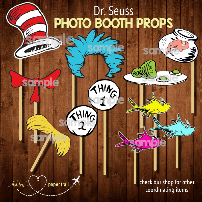 Dr. Seuss Baby Shower Photo Booth Props