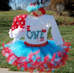 Dr Seuss 1st birthday tutu outfit