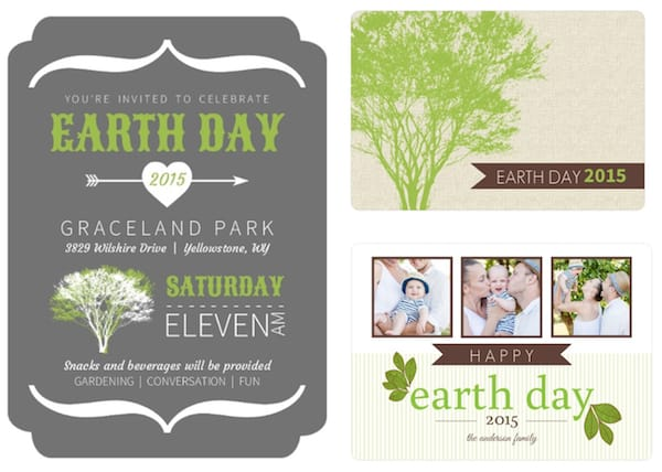 Earth Day Invitations and Cards