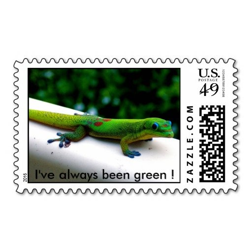 Green Geckos Stamps