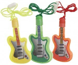 Guitar-Shaped Bubble Necklace Party Favors