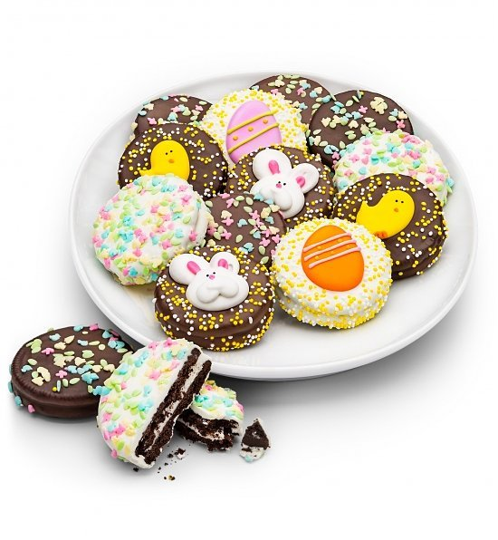 Happy Easter Chocolate Enrobed Oreos, Best Easter Hostess Gifts