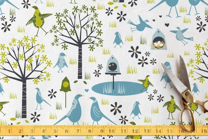 Lakeside Birds Fabric
