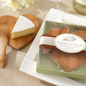 Mini Bamboo Cheeseboard and Spreader Set