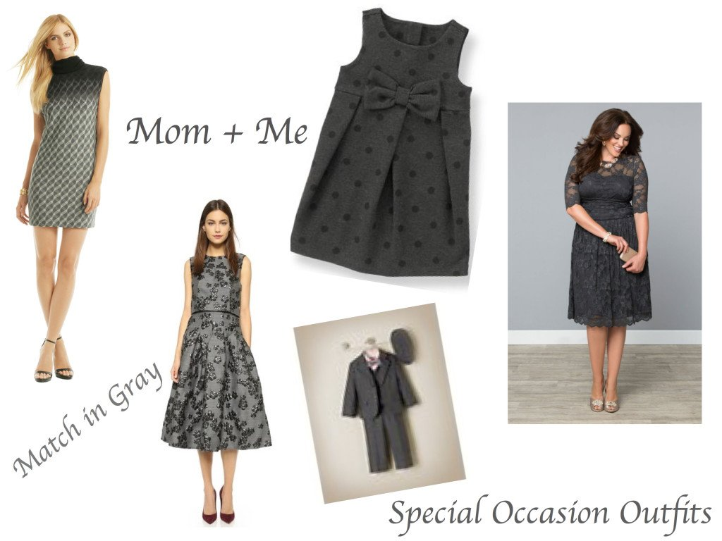 Mom & Me Matching Gray Special Occasion Outfits