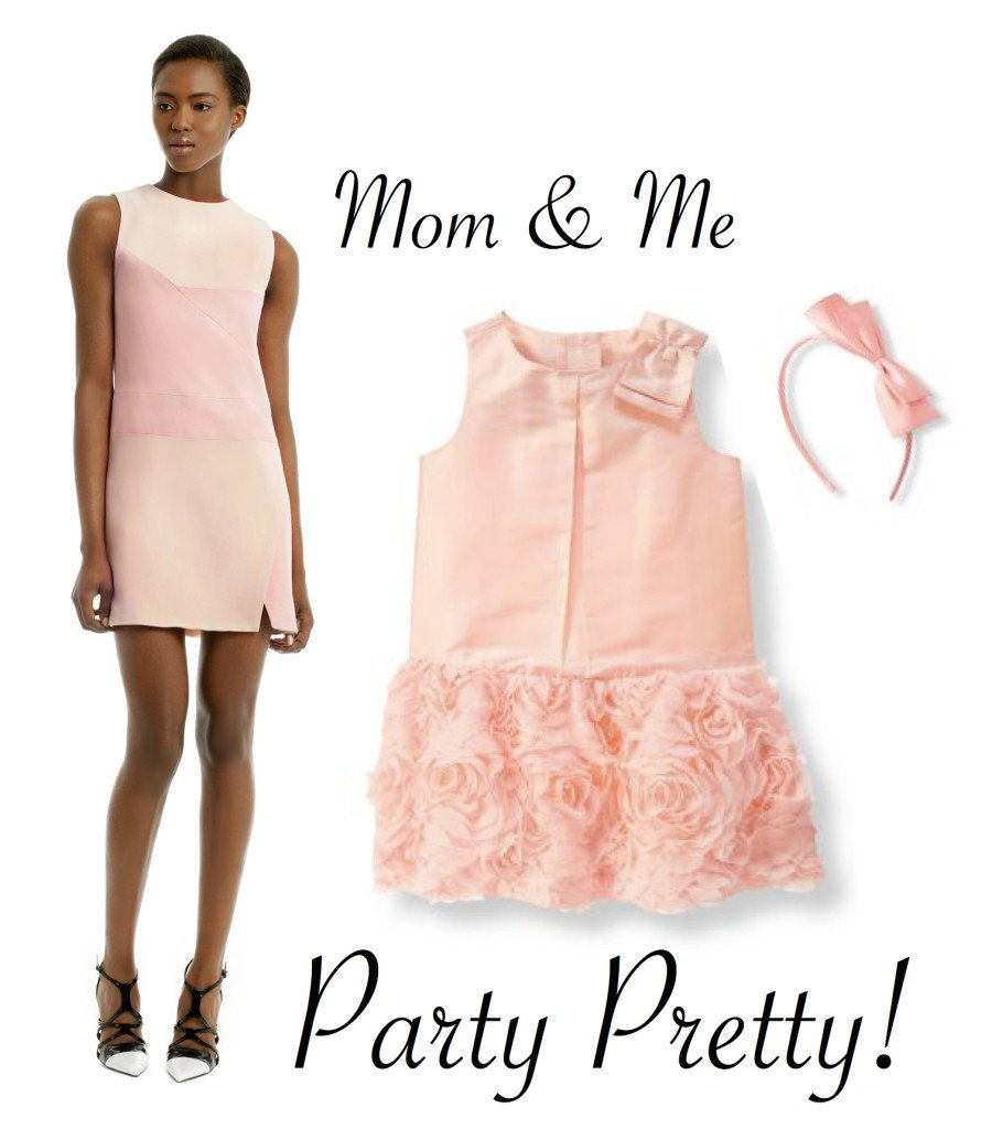 Mother Daughter Party Dresses in Blush