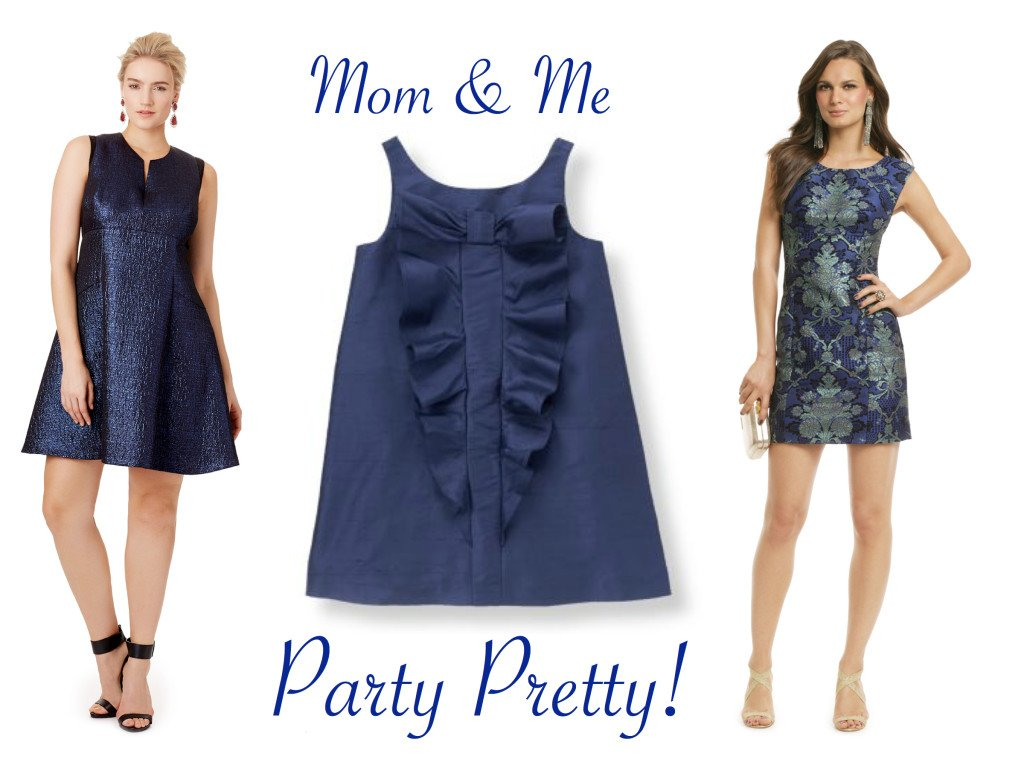 Mother Daughter Party Dresses in Navy