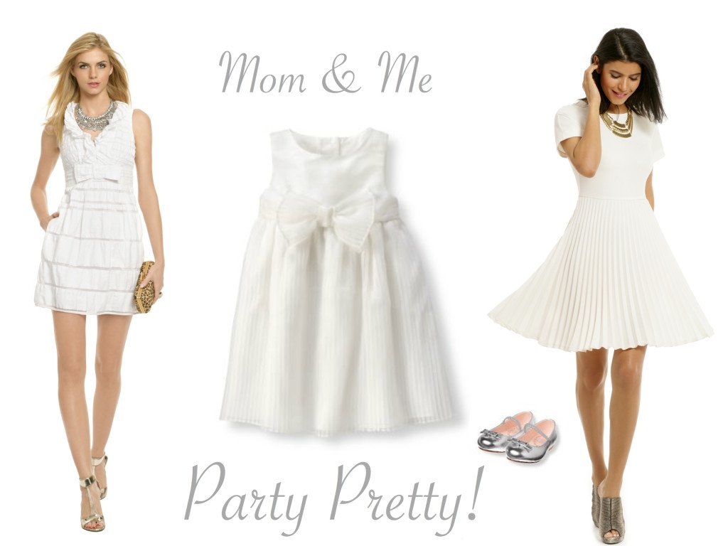 Mother Daughter Party Dresses in White