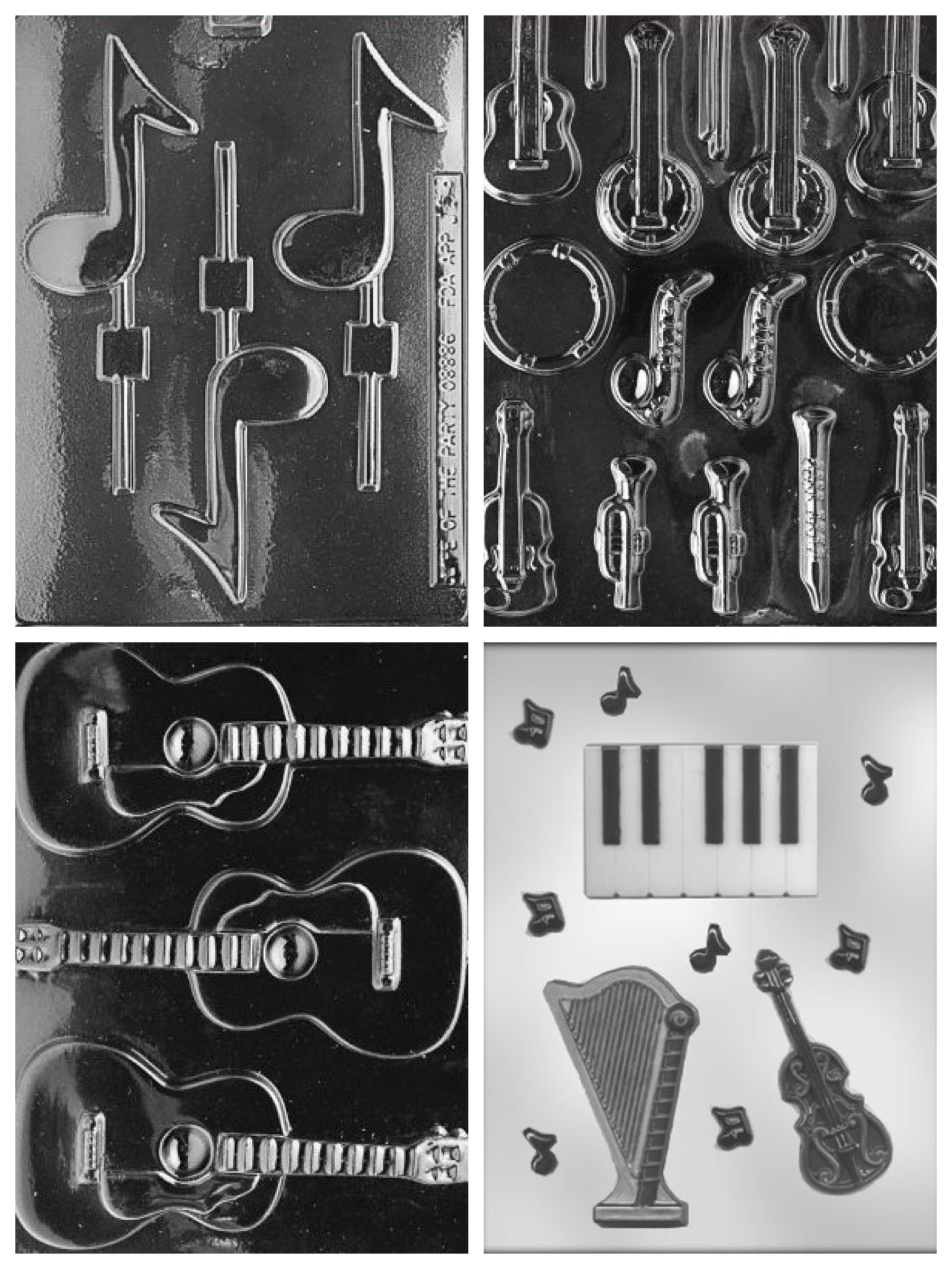 Music Theme Candy Molds