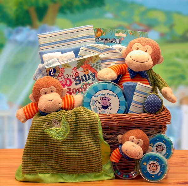 New Little Monkey Baby Gift Basket