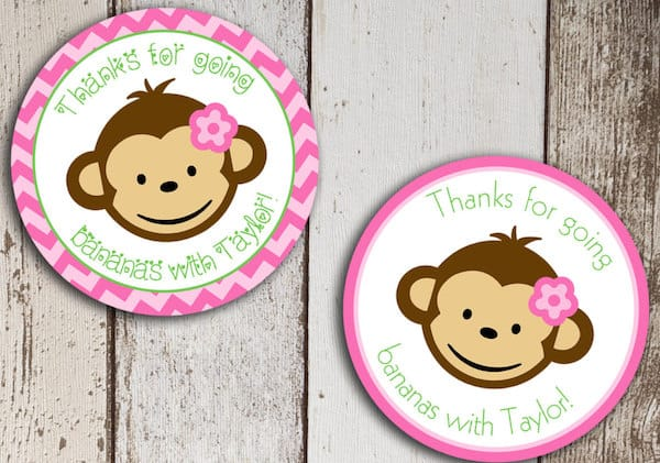 Pink Monkey Stickers