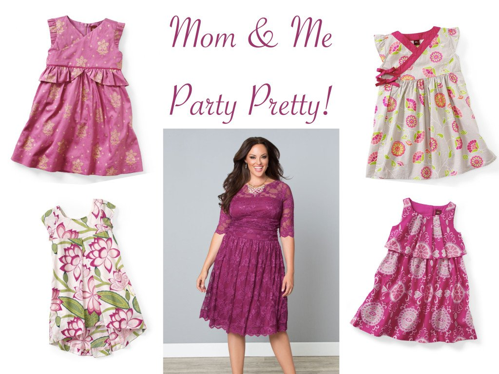 Plus Size Mother Daughter Matching Special Occasion Dresses in Raspberry