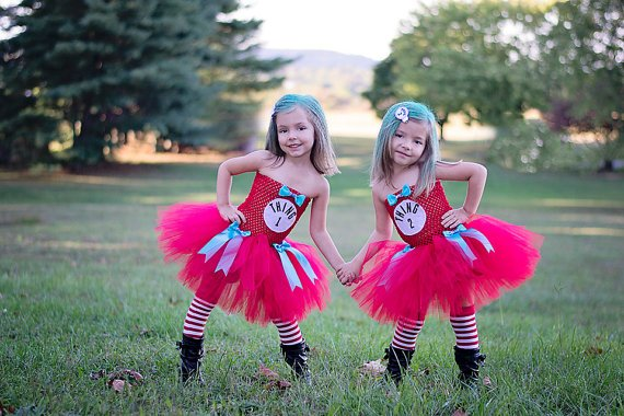 Thing 1 Tutu Dress with Leg Warmers