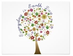 Every day is earth day invitations