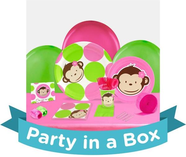 Pink Mod Monkey Party in a Box