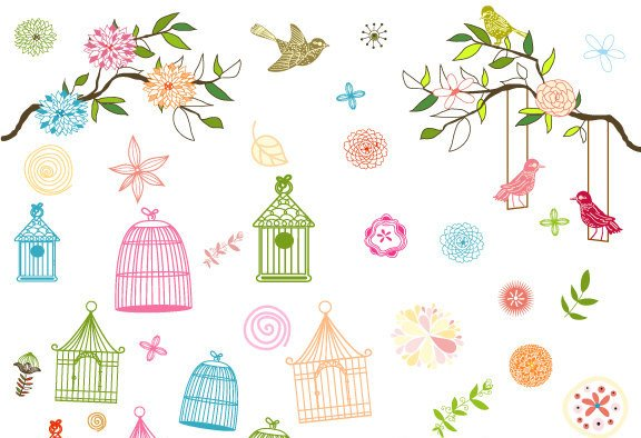 Bird Cage Baby Bridal Showers