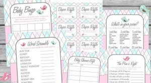 Bird Cage Baby Shower Printable Games