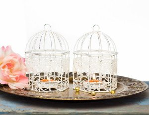 Bird Cages Metal Tealight Candle Holder