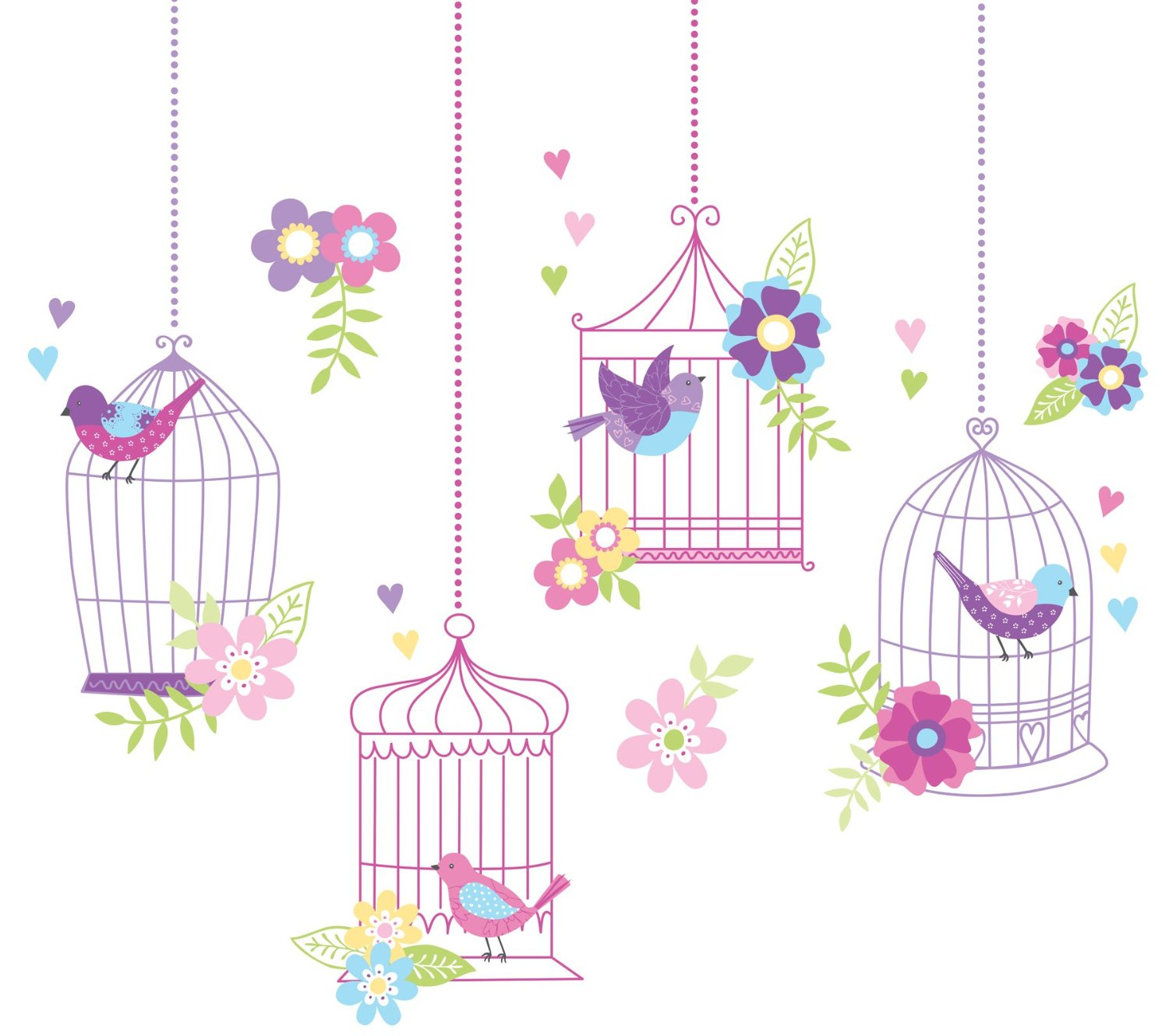 Birdcage Nursery Wall Decals