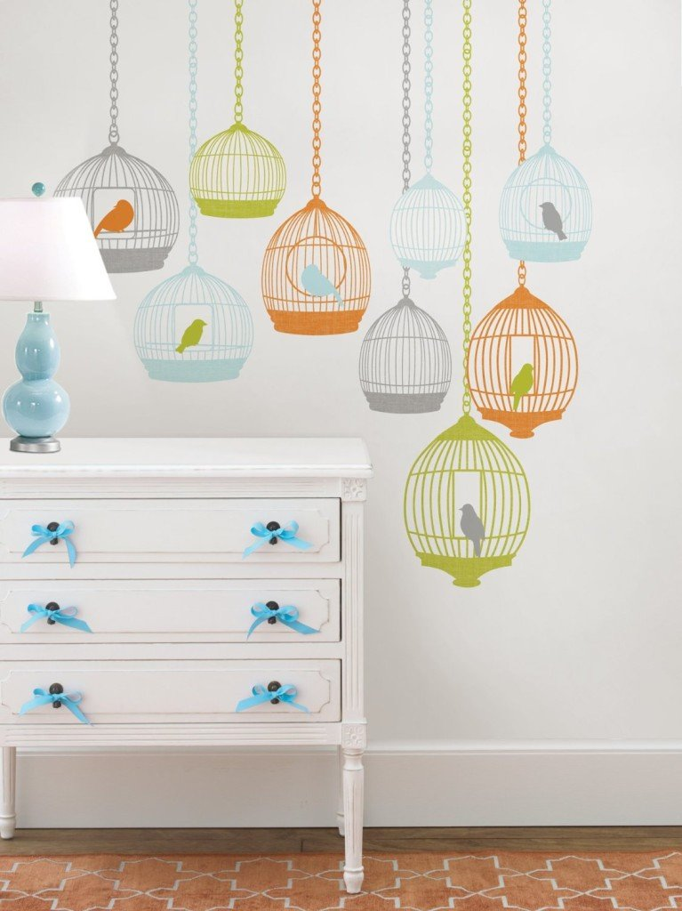 Birdcage Wall Art Decals