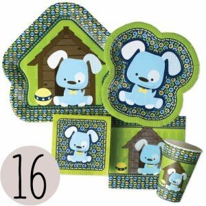 Boy Puppy Dog Baby Shower Tableware