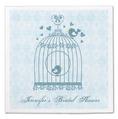 Bridal Bird Cage Paper Napkins