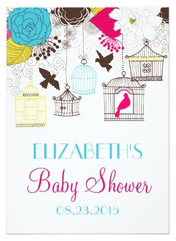 Bird cage themed party planning ideas supplies baby bridal colorful birdcages spring baby shower invitation filmwisefo
