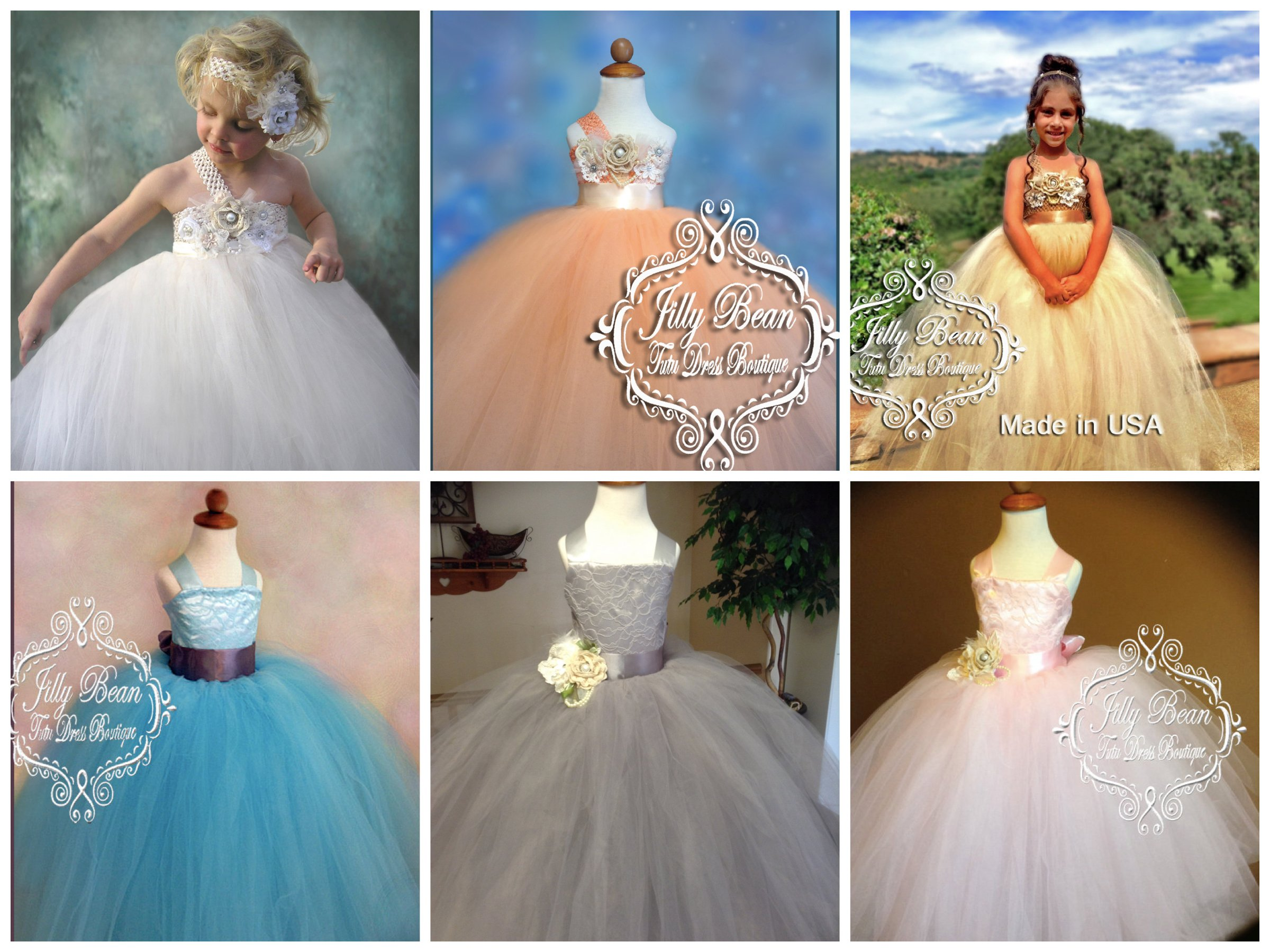 Custom tutu flower girl dresses