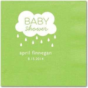 Delightful Droplets Personalized Baby Shower Napkins