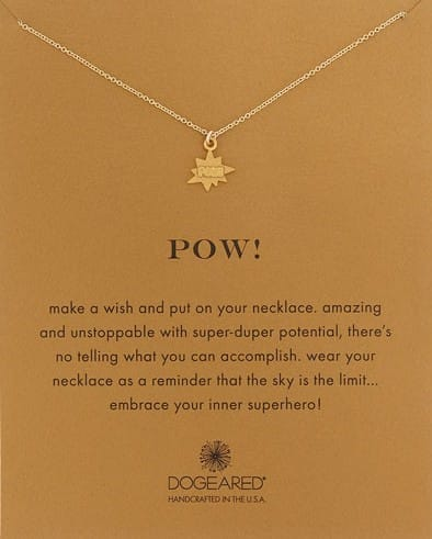 Dogeared Pow Pendant Necklace