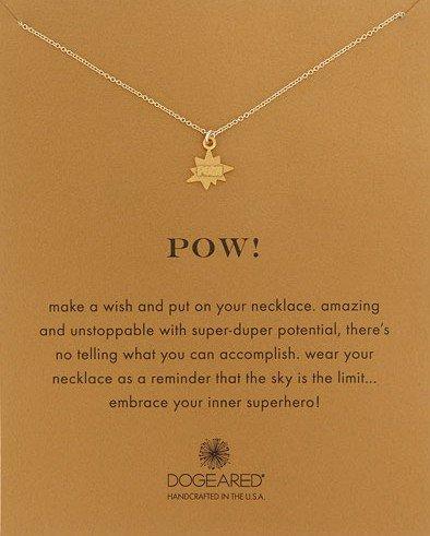 Dogeared Pow Pendant Necklace