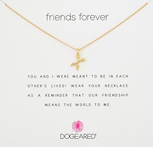 Dogeared Friends Forever Crossing Arrows Necklace