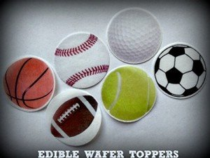Edible Sports Ball Cupcake Toppers
