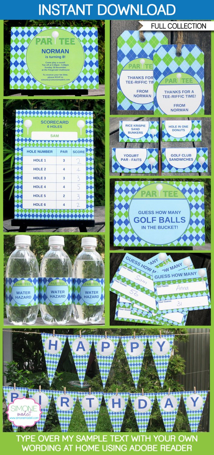Golf Party Printable Invitations & Decorations