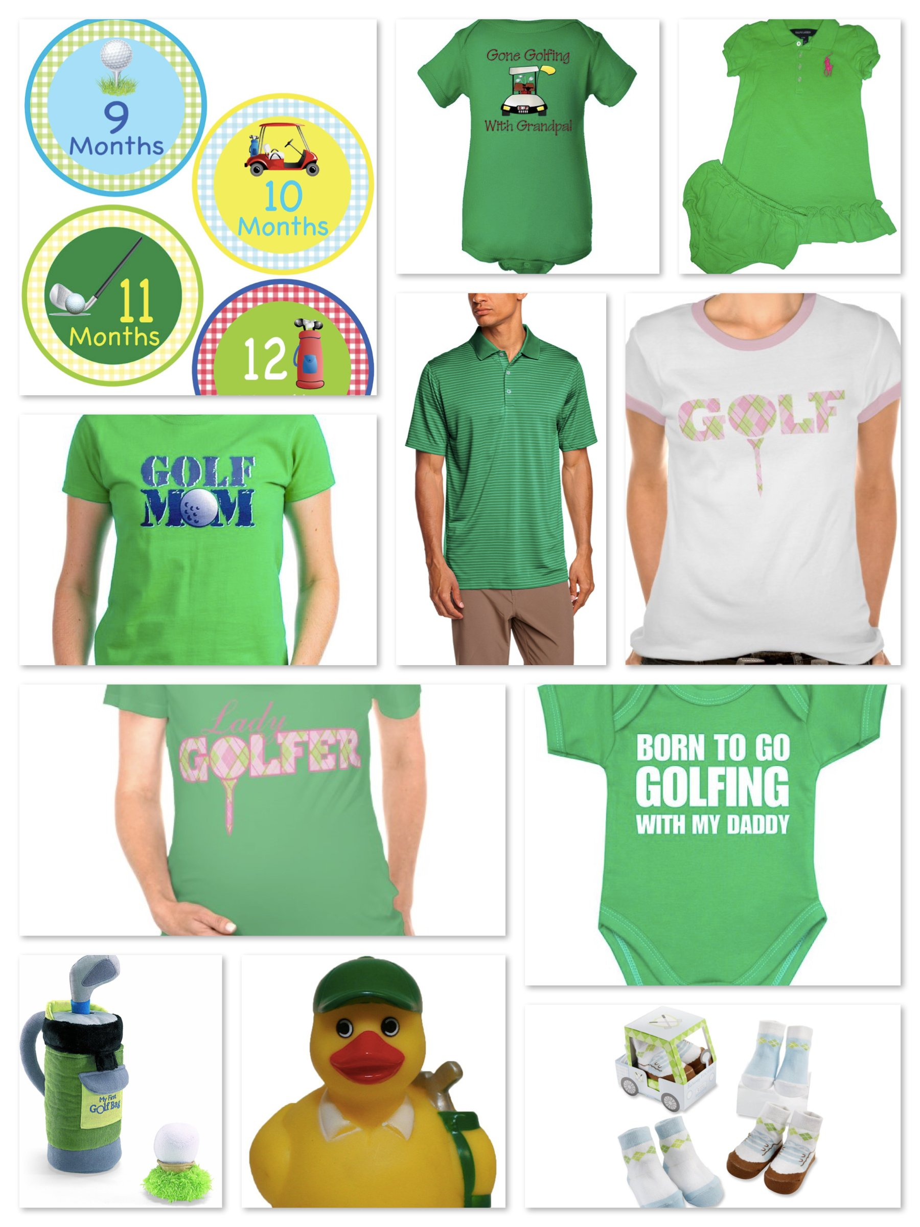 golf theme mommy daddy and me baby shower gifts