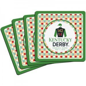 Kentucky Derby 4-Pack Boxed Coaster Set