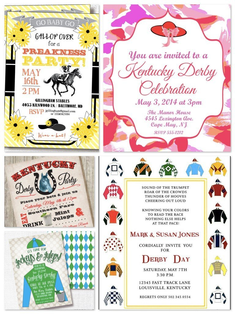 Horse Racing Party Printable Invitations