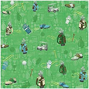 Mens Golf Gear Scrapbooking Paper